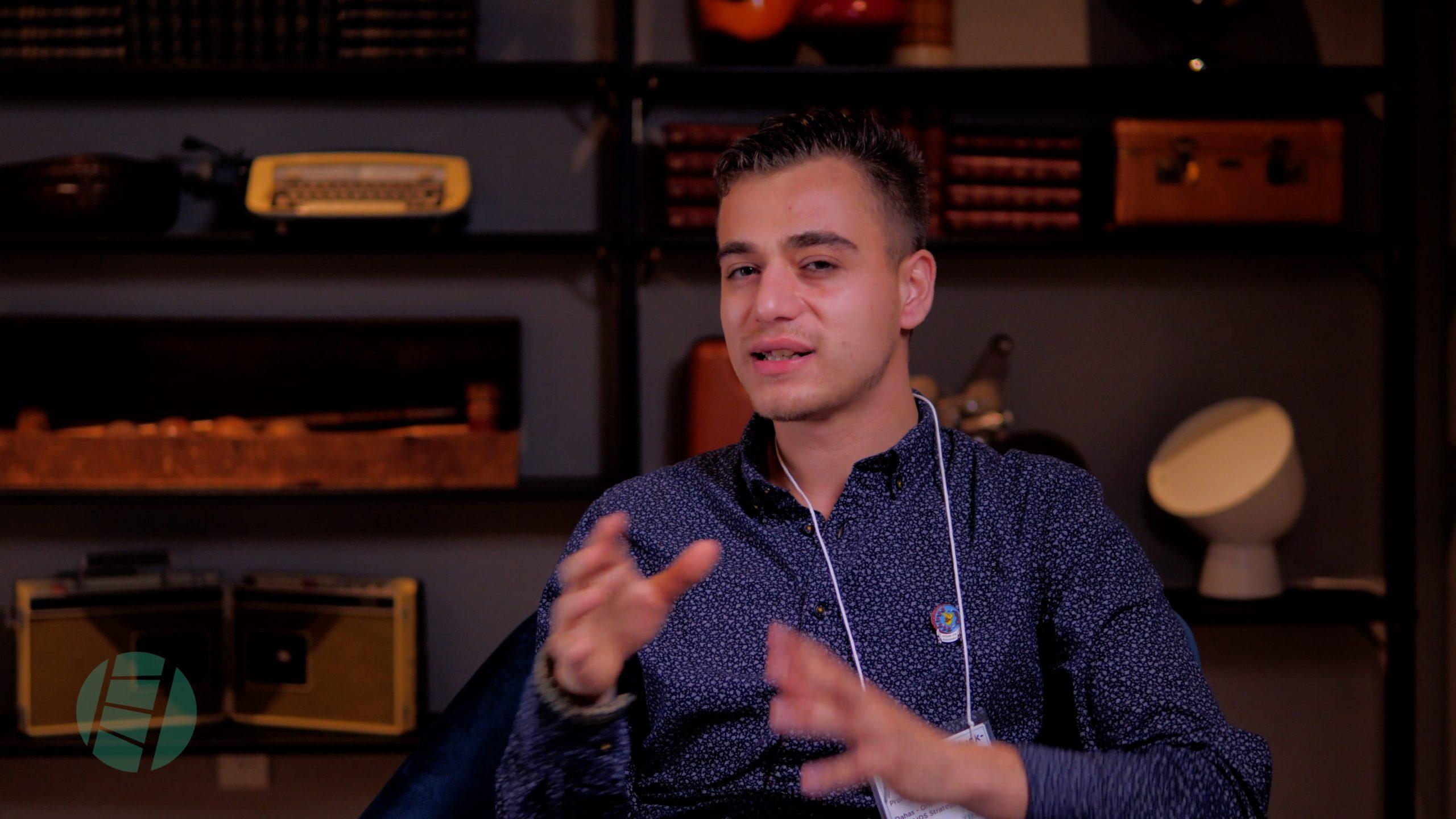 Garrett in a video interview